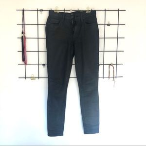 Paige Hoxton Ankle Jean - Black Fog Luxe Coating
